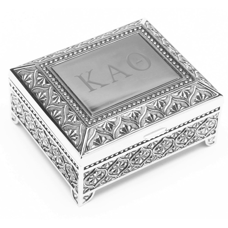 Square Footed Vintage Jewelry Box