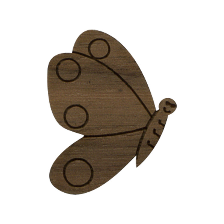 Wooden Butterfly Symbol