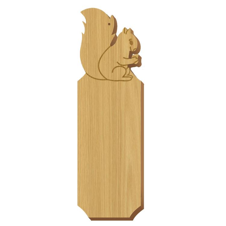 Blank Squirrel Symbol Oak Plaque