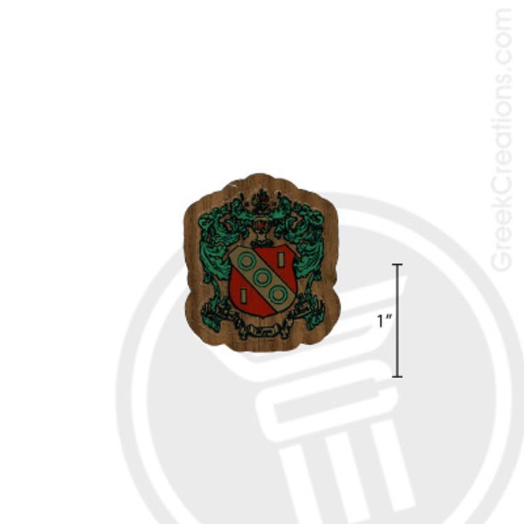 Alpha Gamma Delta Small Raised Wooden Crest