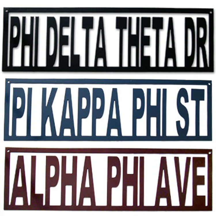 Fraternity and Sorority Street Sign Metal Art