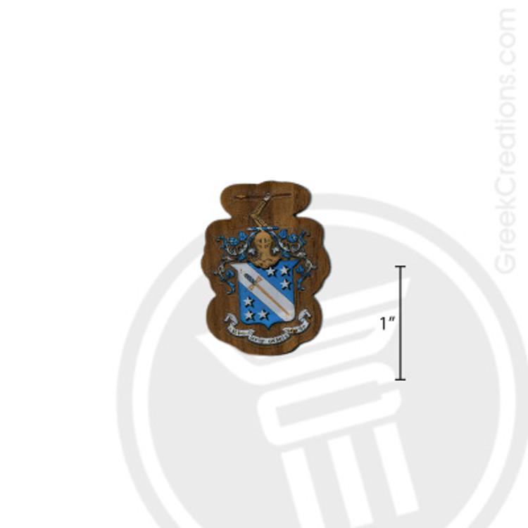 Phi Delta Theta Small Raised Wooden Crest