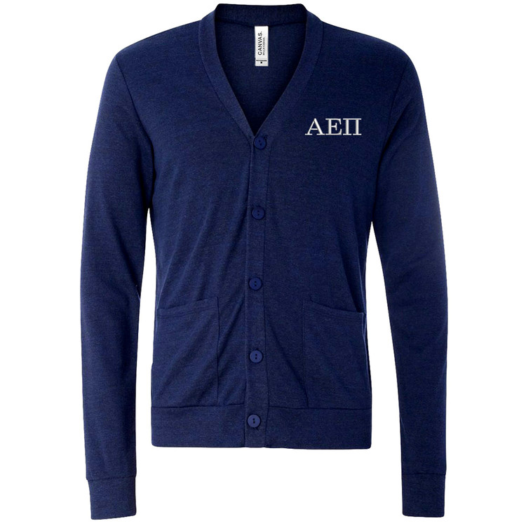 Fraternity & Sorority Embroidered Triblend Cardigan