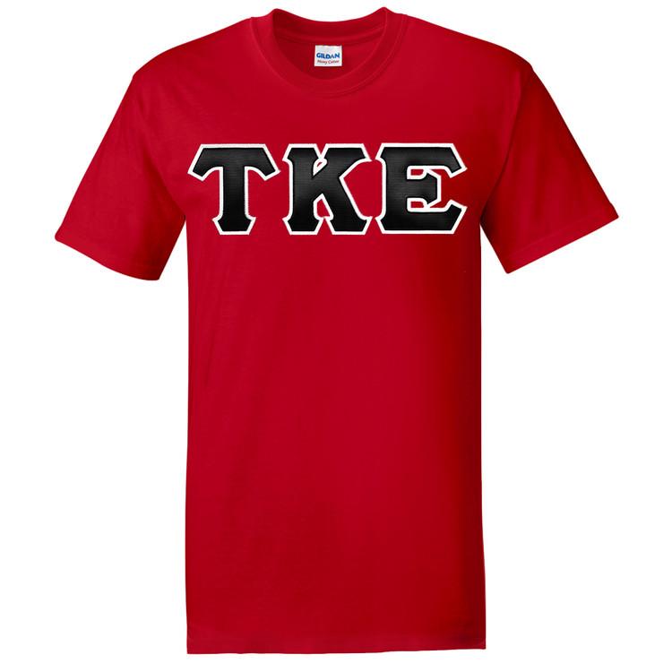 Fraternity & Sorority Gildan Sewn-On Letters Short Sleeve T-shirt
