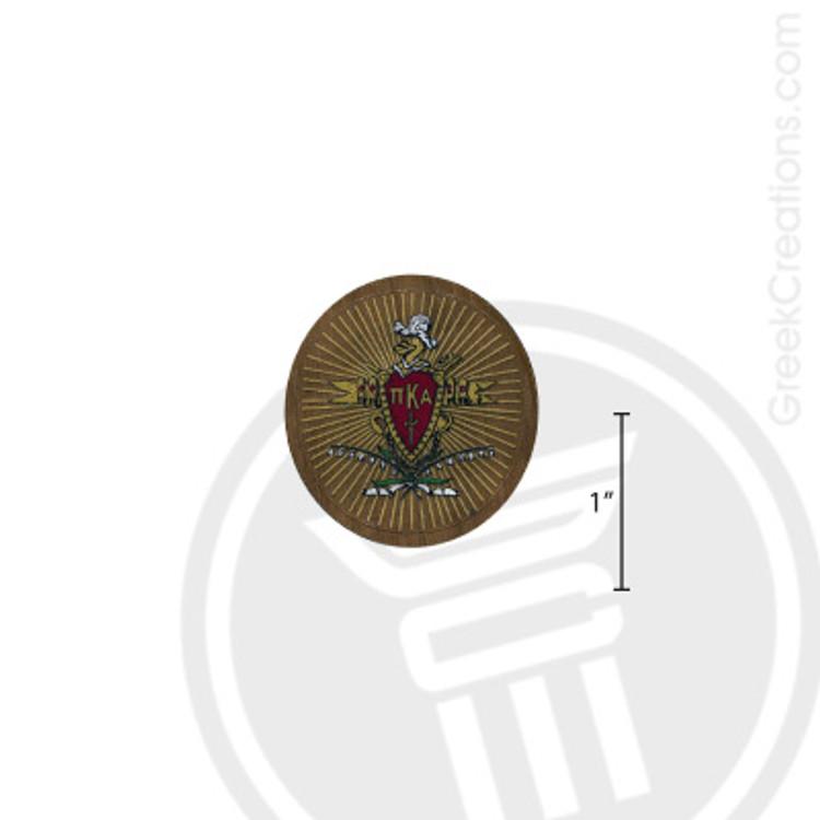 Pi Kappa Alpha Small Raised Wooden Crest