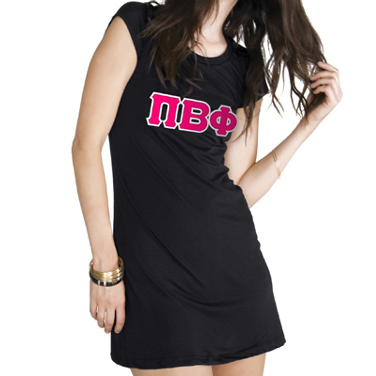 Ladies Bella Sewn-On Letter Vintage T-Shirt Dress