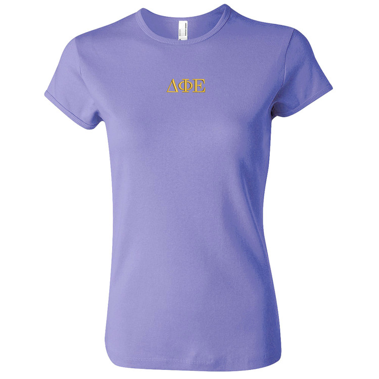 Sorority Embroidered American Apparel Short Sleeve T-Shirt