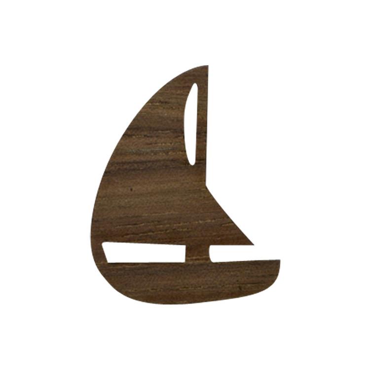 Wooden Sailboat Symbol
