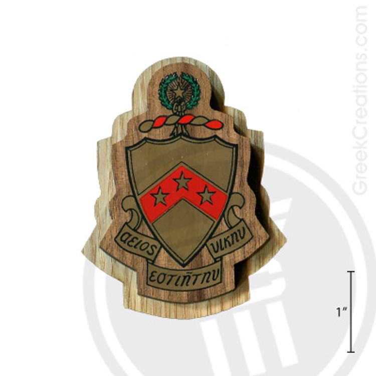 Phi Kappa Tau Large Raised Wooden Crest
