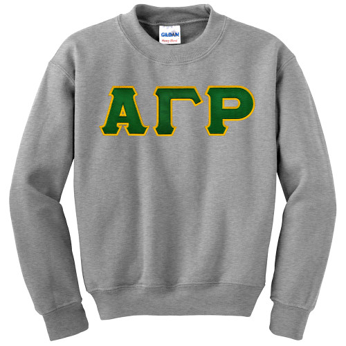 Fraternity sorority lettered crewneck sweatshirt for Sorority sewn on letters