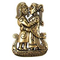 Bronze Viking Kiss Pendant