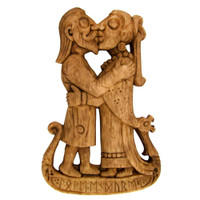 Viking Kiss Plaque by Dryad Design