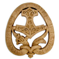 Dragon Thor Hammer Plaque