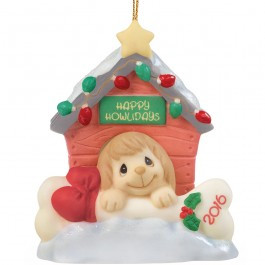 """Precious Moments """"-Home for The Howlidays Dated 2016 Dog Ornament"""