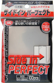 KMC Perfect Barrier Side In Standard Sized Sleeves 100 Ct. - Clear