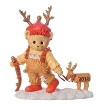 Cherished Teddies Ryan Dated 2018 Figurine with Deer