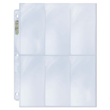 "Ultra Pro 6-Pocket Platinum Page with 2-1/2"" X 5-1/4"" Pockets"