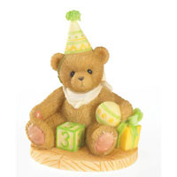 "Cherished Teddies ""Free To Be Three (Age 3)"" Through the Years Series Figurine"