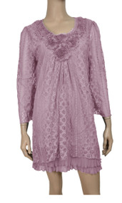 pretty angel Lavender Embellished Lace Tunic