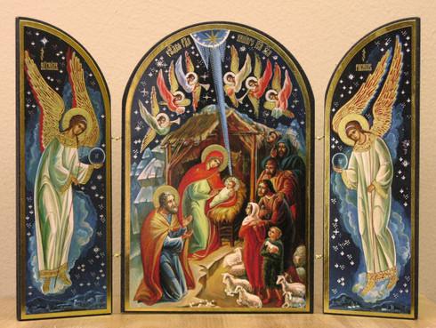 Nativity Triptych 02 Skete Of St John