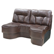 "58"" Brown Boat Sofa"