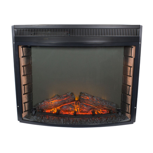 28 quot Electric RV Fireplace Curved Glass RV Parts Nation