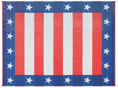 RV Patio Mat - Independence Day Stars