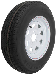 "Kenda ST205/75R15 Radial RV Tire with 15"" White Wheel - 5 on 4-1/2"