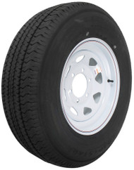 "Kenda Karrier ST225/75R15 Radial Trailer Tire 15"" White Wheel - 6 on 5-1/2"