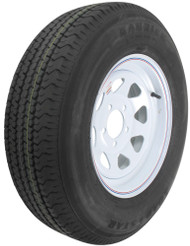 "Kenda Karrier ST205/75R14 Radial Trailer Tire 14"" White Wheel 5 on 4-1/2"