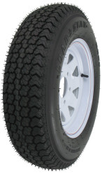"Kenda Loadstar ST175/80D13 Bias Trailer Tire 13"" White Wheel 5 on 4-1/2"