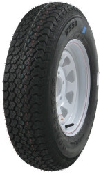 Kenda Karrier ST205/75R14 Five Mod Trailer Tire White Wheel