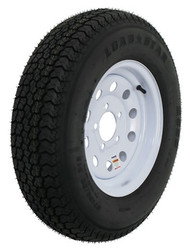 "Kenda Loadstar ST175/80D13 Trailer Tire 13"" White Wheel Mod 5 on 4-1/2"