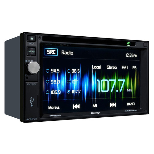 Jensen Double DIN 6 2 quot Touchscreen Radio with Bluetooth