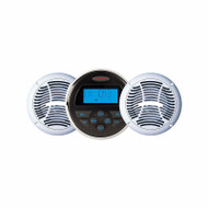 """Jensen Marine Bluetooth Stereo w/ Two 6.5"""" Speakers Package"""