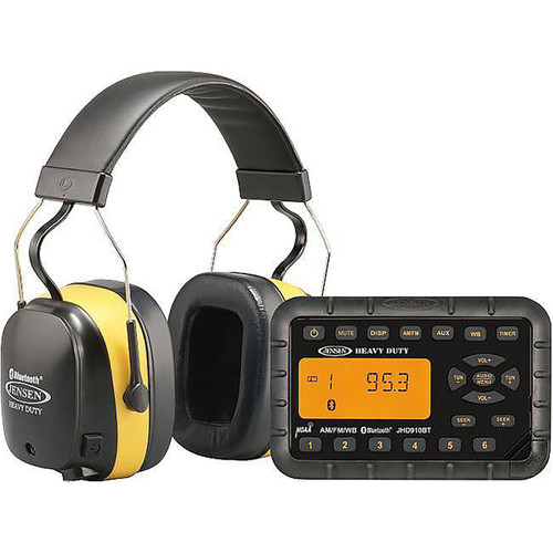 Jensen Bluetooth Mini Radio and Bluetooth Wireless Headphones Kit