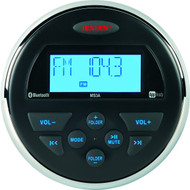 "Jensen AM/FM/USB/Bluetooth Compact 3.5"" Round Waterproof Stereo with App Control"