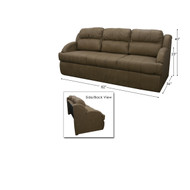 RV Trifold Beckham Tan Sleeper Sofa 82""