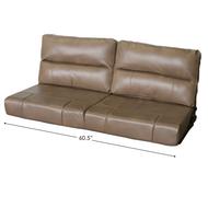 """60.5"""" Flip Sofa Hazelnut"""