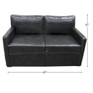 RV Black Trifold Sleeper Sofa