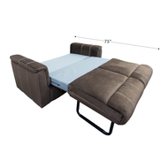 "Suede Mocha 68"" RV Sleeper Sofa"