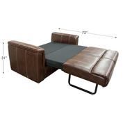 "Faux Leather RV Sleeper Sofa 68.5"""