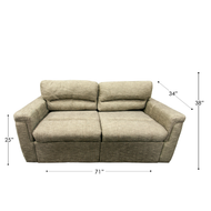 "71"" Cloth RV Sleeper Sofa"