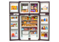 2-WAY RV REFRIGERATOR W/ICE MAKER 4 DOOR SIDE BY SIDE 12 CUBIC FT STORAGE