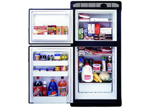 2 WAY RV REFRIGERATOR FLUSH MOUNT BUILT-IN SELF VENTING 2 DOOR,1.7 CUBIC FT FREEZER 5.3 CUBIC FT FRIDGE