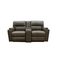 "70"" Heated Massage Dual Recliners  with Cup Holders and Storage"