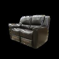 "Thomas Payne 57"" Dual Chocolate Recliner Sofa"