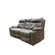 Dual recliner in clay with a 75 inch width, Heated seats and massage