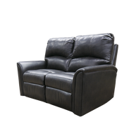 59 Inch Black Reclining sofa for RV's