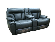 "70"" RV Dual Recliner in Brilliant Coal With Heat and Massage"